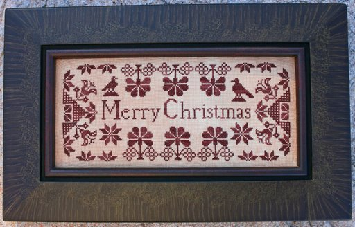 Quaker Christmas Sampler by Carriage House Samplings-Carriage, House, Samplings, Quaker Christmas, Sampler, gallery, customer, pictures, framed,
