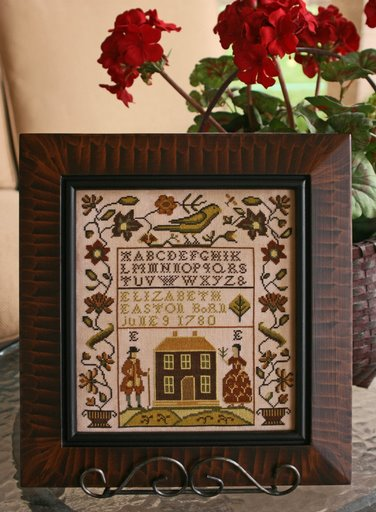 Elizabeth Easton by The Goode Huswife-The Goode Huswife, Elizabeth Easton, Sampler, gallery, customer, pictures, framed,